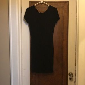 Body con black dress with a detailed back.